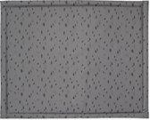 Jollein Boxkleed gecoat Spot - 75 x 95 cm - Storm grey