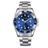 Yolako Silver Blue Steel - Heren Horloge