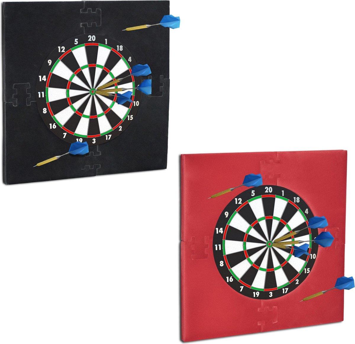 relaxdays dartbord surround ring - beschermrand - beschermring - ring voor dartbord - 45cm grijs