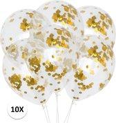 Confetti Ballonnen Goud 10St Luxe Feestversiering Verjaardag Bruiloft Ballon