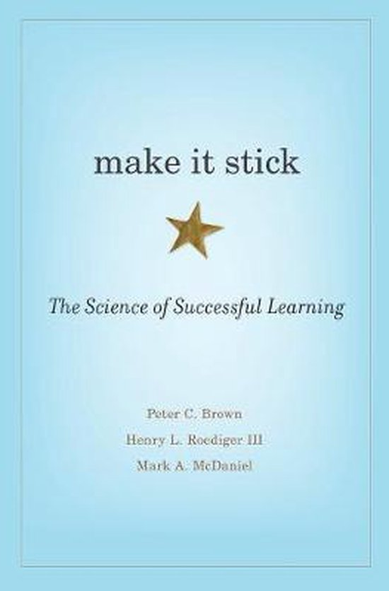 Boek cover Make It Stick van Peter C. Brown (Hardcover)