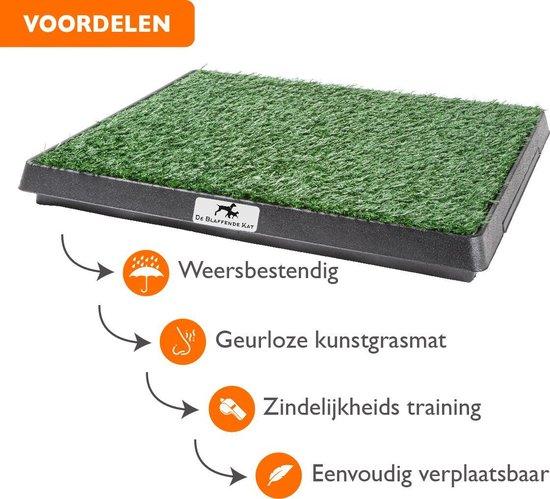 Premium Hondentoilet met 2 matten - Inclusief gratis E-Book - Puppy pads - indoor/outdoor hondentoilet met kunstgras