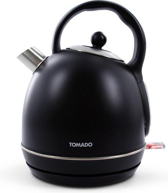 Tomado TWK1705B - retro waterkoker - matzwart - 1,7 liter - 2200 watt