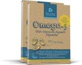 Testa Omega 3 Algenolie. Hoogste concentratie Vegan Omega-3 DHA 250mg. 120 Capsules Plantaardig