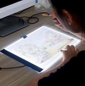 Diamond Painting Light Pad A4 - Dimbaar - 3 standen - Lichtbord - Diamond Paintings - Led Lichtbord - Hobby Pakket - Diamond painting voor volwassen - Lightpad