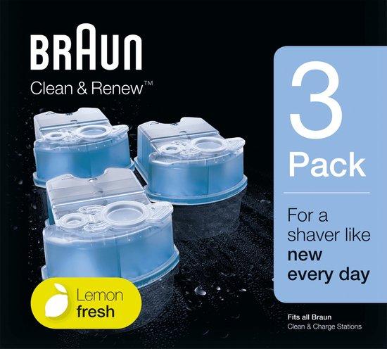 Braun Clean & Renew - 3 stuks - Reinigingsvloeistof Scheerapparaat