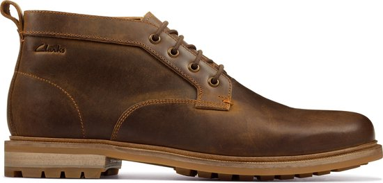 Clarks Foxwell Mid Heren Veterschoenen - Beeswax Leather - Maat 42