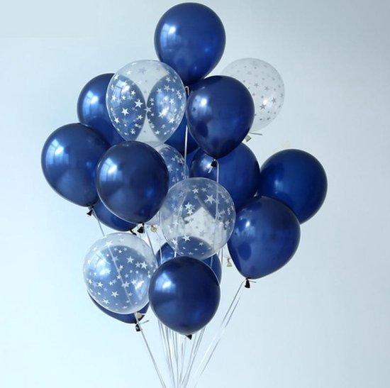 Luxe Ballonnenset   20 Stuks   Blauw  Helium Latex Ballonnen   Feestje   Babyshower