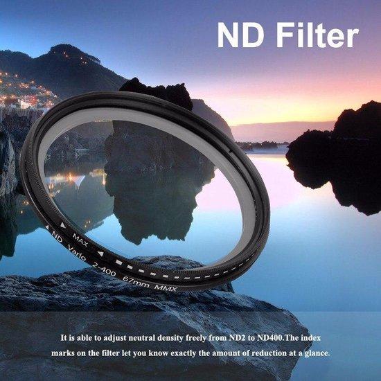 77mm variabele ND fader ND2-ND400 filter grijsfilter