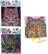 Toi Toys Diamond painting Dieren - Diamonpainting Kinderen - Dieren/Hobby/Creatief- 20x20 CM EXTRA glans