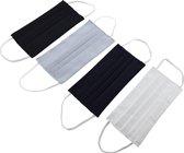 Remask Fashion - Mondkapje wasbaar - Set van 4 - Herbruikbaar mondkapje - Dubbel-laags - Polyester - Mondmasker - Stof - Duurzaam