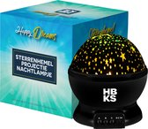 HBKS Happy Dreams Sterrenprojector - Zwart
