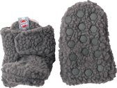 Lodger Babyslofjes Slipper Teddy - Donkergrijs - 6-12M