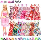 26 Delige Kledingset Geschikt voor Barbie -  Jurkjes Schoentjes en Kleren