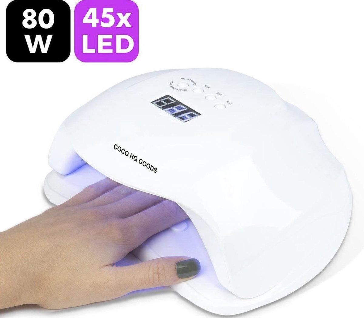 Coco HQ Goods 80W LED Nageldroger voor Gelnagels - Nageldroger - Nagelverzorging - Geschikt voor ALL