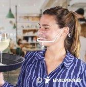 10x Hygiënisch mondmasker - Gelaatmasker - Spatmasker - Gelaatsscherm
