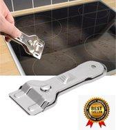 Glasschraper Inductie kookplaat reiniger - Glasschraper – Glaskrabber – Verfschraper glas - Keramische en Halogeen Kookplaat schraper - Inclusief 5 Bonus Mesjes