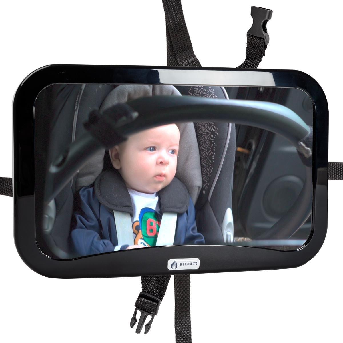 Autospiegel baby - verstelbare spiegel hoofdsteun autostoel achterbank - veiligheidsspiegel - baby e