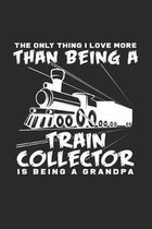 Train collector grandpa: 6x9 Collecting - grid - squared paper - notebook - notes