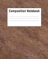 Composition Notebook: Brown