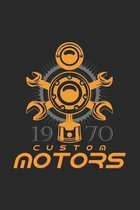 custom motors: 6x9 Engines - dotgrid - dot grid paper - notebook - notes