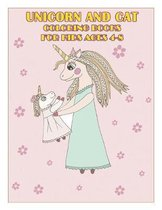 Unicorn and Cat coloring Books For Kids Ages 4-8: Perfect Coloring Page for Boys and Girls