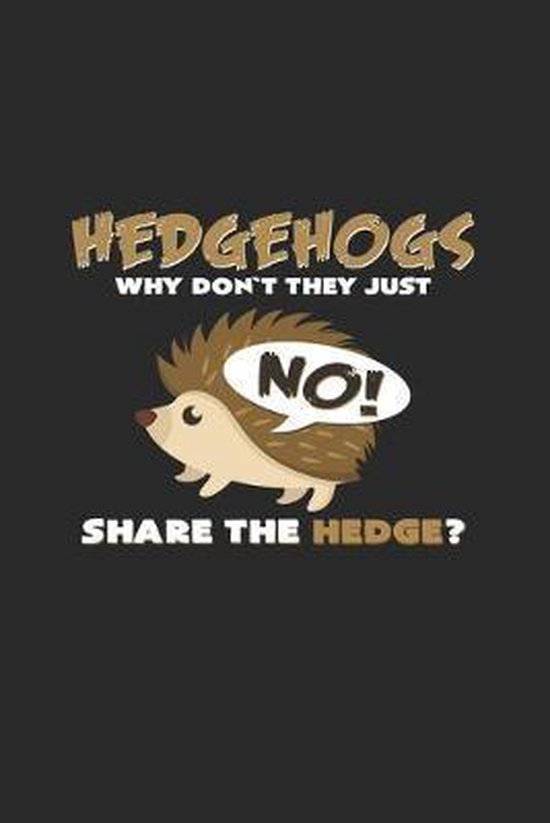 Hedgehogs share the hedge: 6x9 Hedgehogs - dotgrid - dot grid paper - notebook - notes
