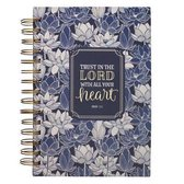 Journal Wirebound Navy Floral Trust in the Lord