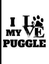 I love my Puggle: notebook for dog lovers