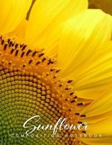 Sunflower Composition Notebook: Journal Diary, College-Ruled Great For Taking Down Notes At School, Work Or Journaling At Home Or A Travel Diary. Hand