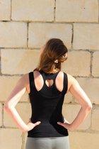 Yoga top-Sport Top, Tank top-hemd-Zwart-Medium
