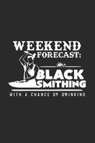 Weekend forecast blacksmithing: 6x9 Blacksmith - dotgrid - dot grid paper - notebook - notes