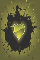 Heart in the dark yellow: A notebook full of love