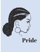Black Pride: Primary Composition Notebook with College Ruled Paper