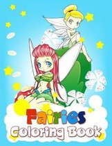 Fairies Coloring Book: Activity Books For Kids Ages 4-8, Gorgeous Coloring Pages For Girls ( Mermaids Princesses )