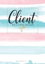 Client record book for Salons Nail Spa: Professional Business with A - Z Alphabetical Tabs Information Keeper & Record Log Paperback for Salons Nail H
