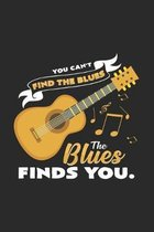 The blues finds you: 6x9 Blues - dotgrid - dot grid paper - notebook - notes