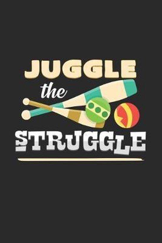 Juggle the struggle: 6x9 Juggling - dotgrid - dot grid paper - notebook - notes
