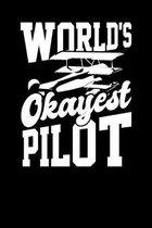 World's Okayest Pilot: 6x9 dot grid notebook
