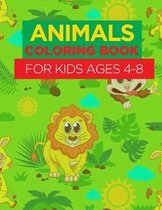 Animal Coloring Book For Kids Ages 4 - 8