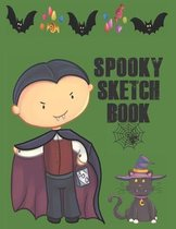 Spooky Sketchbook: Cute Halloween Gift Book, large 8.5 x 11in pages for drawing doodling sketching or making memories