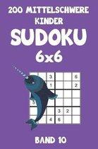 200 Mittelschwere Kinder Sudoku 6x6 Band 10: Sudoku Puzzle R�tselheft mit L�sung, 2 R�stel pro Seite