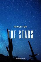 Reach for the Stars - Dot Grid Notebook: A Starry Night Dotted Notebook