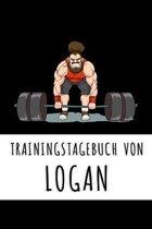 Trainingstagebuch von Logan: Personalisierter Tagesplaner f�r dein Fitness- und Krafttraining im Fitnessstudio oder Zuhause