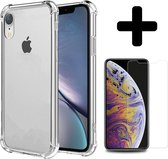 iPhone Xr Hoesje Shock Case Cover En Screenprotector Tempered Glass