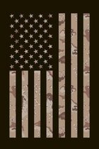 Home Of The Brave: Camouflage American Flag Composition Notebook Journal Military Theme College-Ruled Lined Multi-Purpose Desert Camo Dia