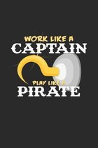 Work like a captain pirate: 6x9 Pirate - grid - squared paper - notebook - notes