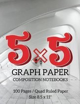 5 x 5 Graph Paper Composition Notebooks
