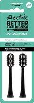 Better Toothbrush - opzetborstels voor Philips - 2 stuks - zwart