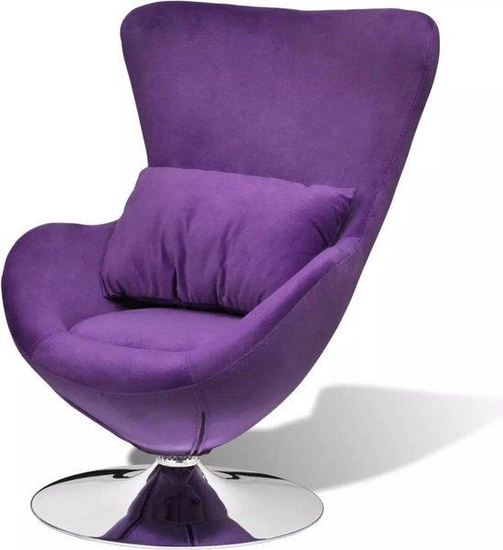 Fauteuil PAARS (Incl LW anti kras viltjes) - Lounge stoel - Relax stoel - Chill stoel - Lounge Bankje - Lounge Fauteil